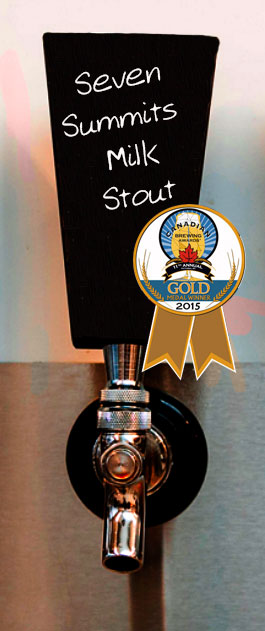 Rossland-Beer-Compaany-7 Summits Milk Stout - GOLD Medal Award
