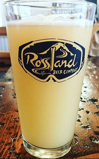 Rossland Beer Company Seasonal Experimental Beer
